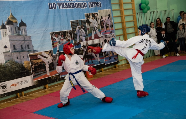 В XII Чемпионате и Первенстве Пскова по тхэквондо приняли участие 340 спортсменов, фото-1