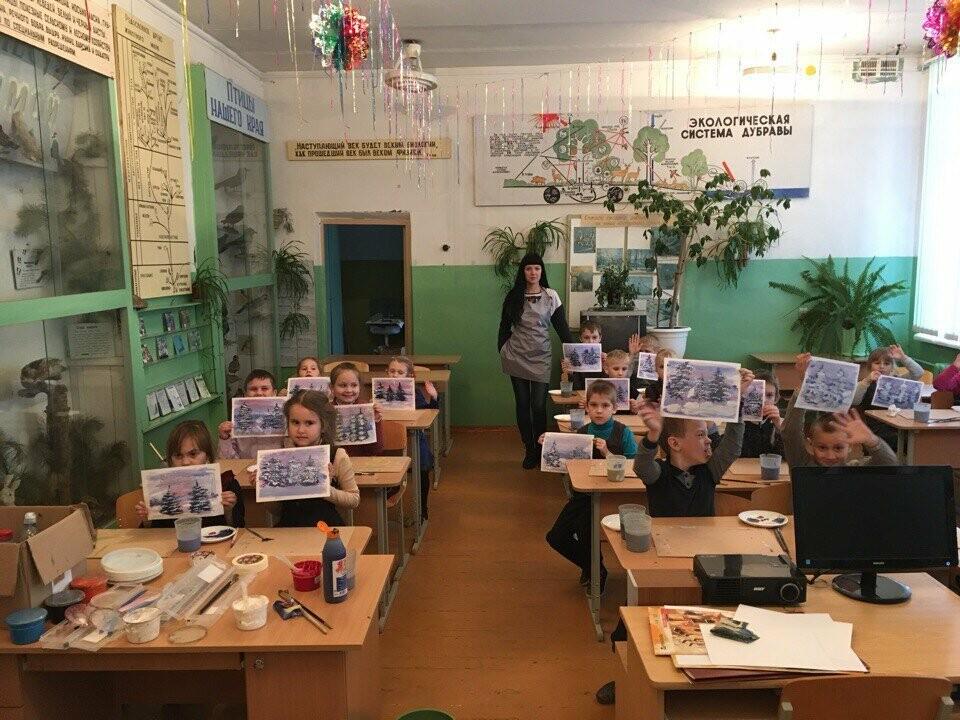Для учащихся Пореченской школы провели мастер класс по рисованию пейзажей, фото-5