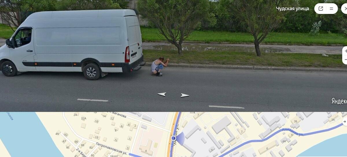 Пскович справил нужду на Чудской улице и попал на панораму «Яндекса», фото-2