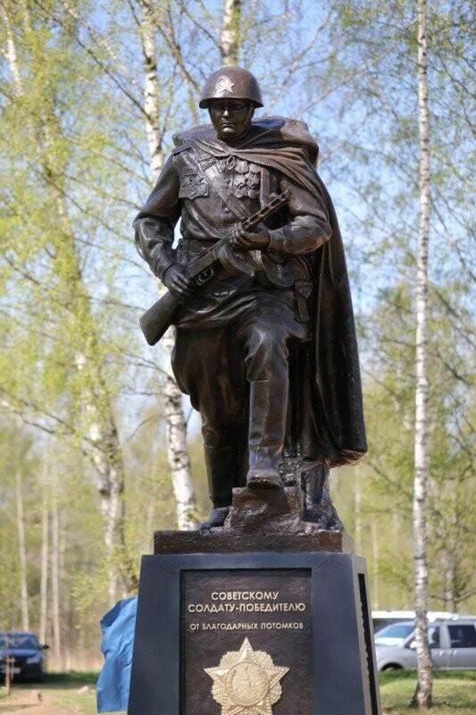 В канун Дня Победы в Псковской области открыли памятник Советскому Солдату-Победителю, фото-3